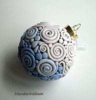 Blue and White Filigree Christmas Ornament by MandarinMoon
