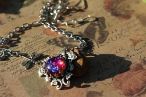 Dragonflies in the Morning Glories Necklace by artistiquejewelry