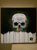 Colorful skull by RRocha722