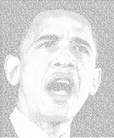 Obama Text Montage by mac2007