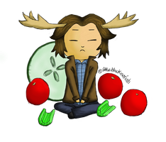 Sad Moose by littleblackmariah