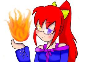 anime fire by inupuppy1412