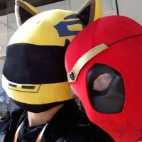 Celty X deadpool selfie by slayer500