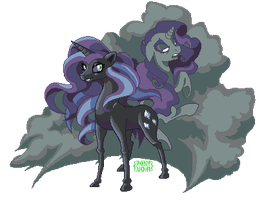 Nightmare Rarity by ponynoia