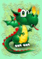Dragon Cute Baby Cartoon Character by Bluedarkat