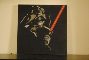 Smoking Vader / 12 x 12 Canvas by Joshfryguy