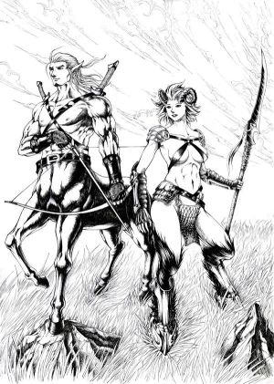 Centaur and Satyress - Warriors of the Field