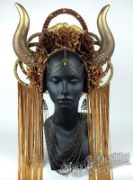 Horned Goddess Headdress by MissGdesigns