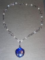 blue glass necklace by faranway