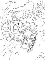 Sketch : Marisa Run by Coffgirl