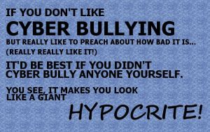 Hypocrites and supposed cyber bullying by Svataben