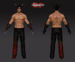 Jin Tekken : Progress 5 by Akiratang