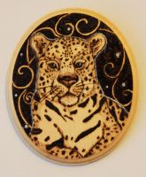 Pyrography Jaguar Wall Plaque by BumbleBeeFairy