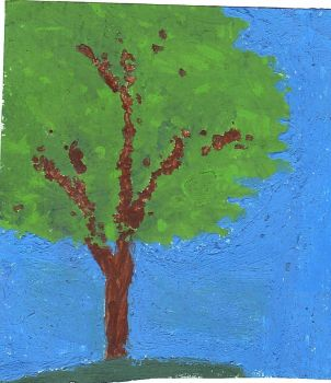 Tree Acrylic Painting by msmusic137