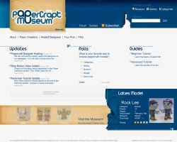 Papercraft Museum webdesign by LH310