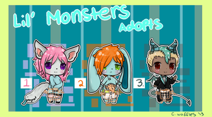 Lil' Monsters Adopt batch: 1 [CLOSED] by CorruptedWaffles