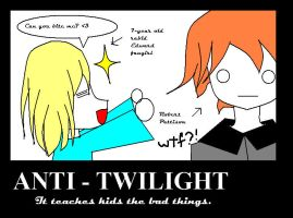 ANTI TWILIGHT POSTER by CorenB
