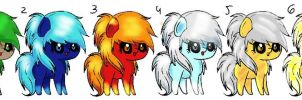 Elemental Chibi Pony Adopts (OPEN, 5pts, 2 LEFT!) by DragonsAndDreamscape