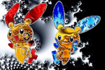Plusle and Minun - Fractal Style by Skye-Sweet-Author