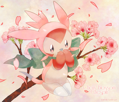 Day 1: Cherry Blossom Chespin by LadyMurkrow