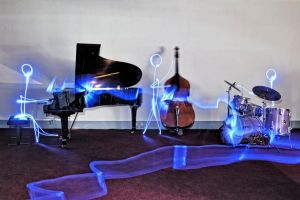 Jazz Band - Light painting by christopherhibbert