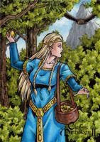 Idunn Sketch Card - Classic Mythology II by tonyperna