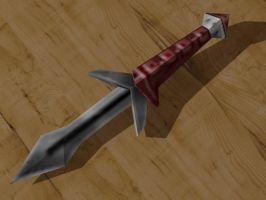 Papercraft Klingon Knife by Tektonten