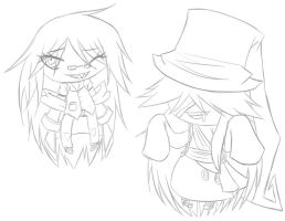 Request-Grell and Undertaker Chibis by RhodArt