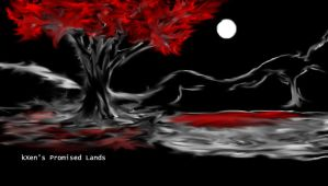 Promised Lands - Tree/Lake by HeartlessXen
