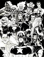Marvel Superheroes by Halo-Eight