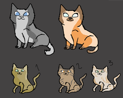 3 Adoptables, 1 point each! by EpicAdoptionsForYou