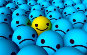 Emo Happy Smiley Wallpaper by Ixionx