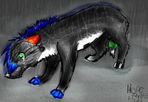 deonfang  standing in the rain by xxDemonfangxx