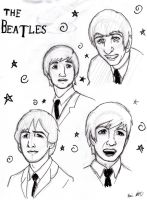The Beatles doodle by the-alchemyninja