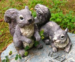 Stone Squirrels 1 by Jenna-RoseStock