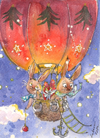 Flying bunnies by Lahara