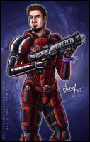 Mass Effect: Commander Luke Shepard by Lukael-Art