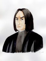 Snape watercolour by The-Black-Panther
