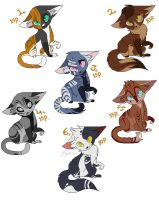 Moar adoptables .CLOSED. by CoalPatchOfDuskClan