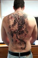 fifth session of oriental tiger tattoo by flaviudraghis