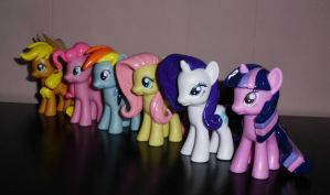 MLP: FiM ''Mane Six'' Custom Sculpt Set 3 by UniqueTreats