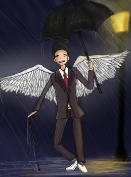 An Angel in the Rain by Mobbmaster