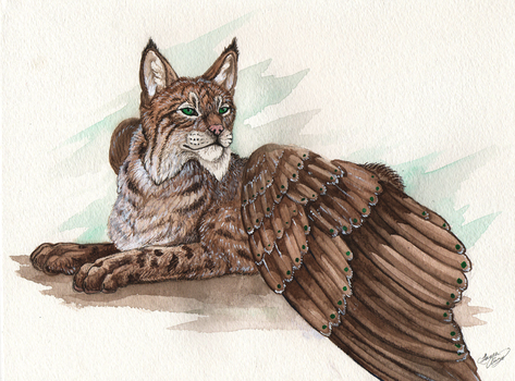 Winged Bobcat by MorRokko