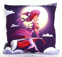 Illustrated Pillow - Witch by VirtualBarata