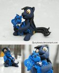 MLP Linds with Luna FIMO by Qucykowa
