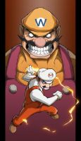 Mario Vs Wario colored by Anny-D