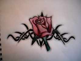 Rose Tattoo by sadangeleyes