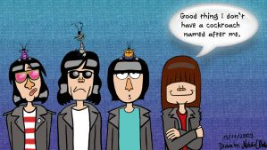 Ramones meet the cockroaches by NatalieTheAntihero