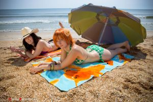 Nami and Nico Sunbathing by silvver