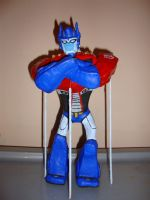 tfa optimus prime clay figure by Meggz360